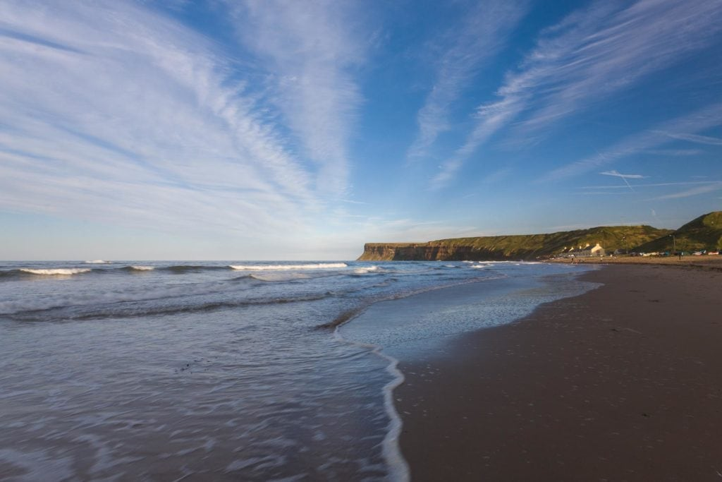 The Beach at Saltburn, North Yorkshire, cliff house, holiday cottages, pickering, york, self catering, malton, surfing, surf