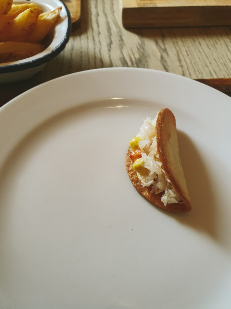 Mini Crab Taco, The New Malton, North Yorkshire, holidaycottagesinyorkshire.com, holiday, cottages, self, catering, self-catering, romatic, family, breaks, yorkshire, north york moors railway