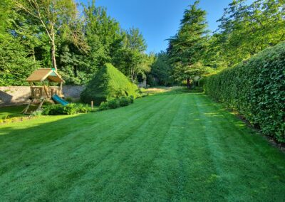 The gardens and Yew Den at Cliff House, holiday cottages in yorkshire, cottages with gardens